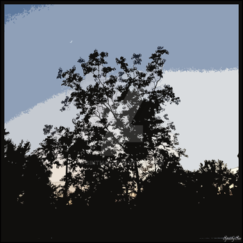 Tree and moon 2 by sintha