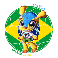 [World Cup Mascots] - Fuleco by KawaiiRebichan