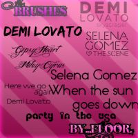 Miley Demi Selena Brushes by FloorYriarte