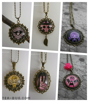 Original Artwork Necklaces by keh-arts
