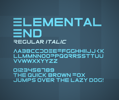 Elemental End font by FutureMillennium