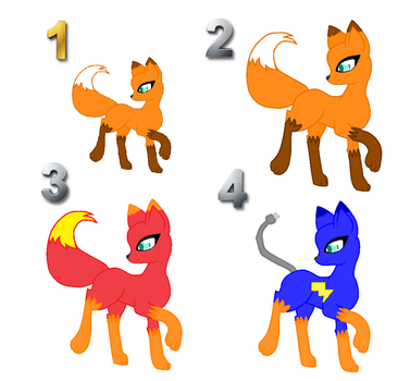 Fox adoptables upgraded (CLOSED) by Artistickat11