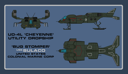 Aliens UD-4L Dropship by smailmyfinger