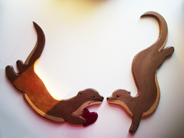Otter Love Plaques by KatRaccoon