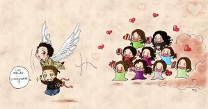 Cas VS the fangirls by Nimloth87