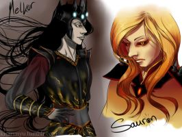 Melkor and Sauron by anime4ewa