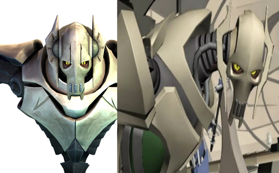 Clone Wars Grievous Design Change by BaryMiner