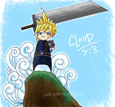 CHIBI CLOUD O DOOM by emorae