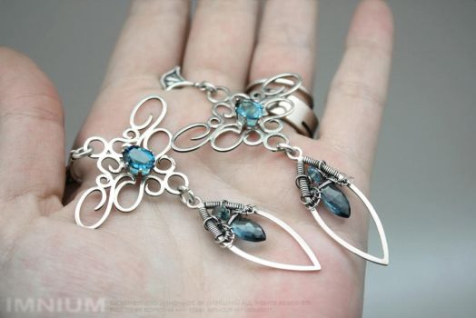 Topaz earrings - they're THIS big! by IMNIUM