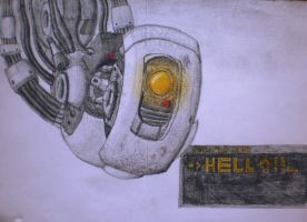 GLaDOS : hello! Can i make an experience with you? by josamarnfshp