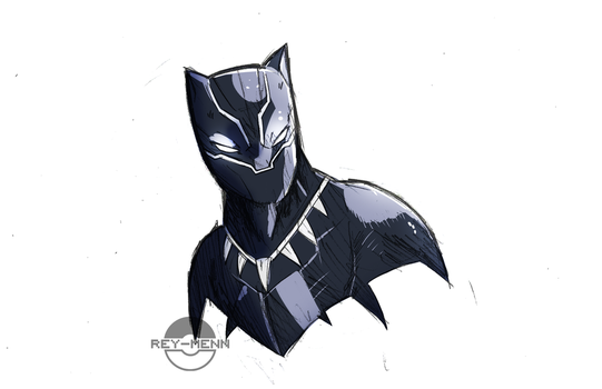 Black Panther Sketch by rey-menn