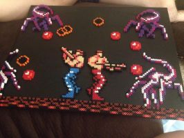Contra Perler Custom Canvas by xXXxNightShadexXXx