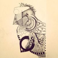 Doodle Birdy by thelonefefe
