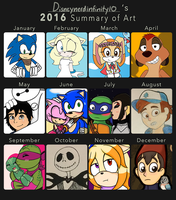 2016 Summary of Art by Infinity-Drawings