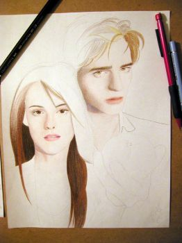 Twilight, Ed n Bella WIP 1 by RoseOnyxis