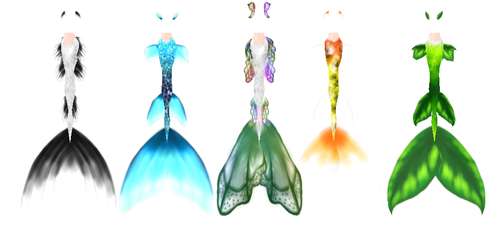 Z mermaid tails download by ZinniaE