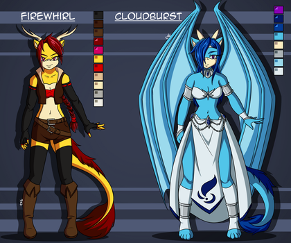 Firewhirl and Cloudburst Basic Ref by BenaniDream