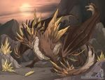 Spiked Dragon by neondragon
