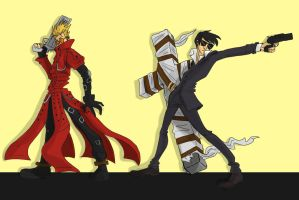 Vash and Wolfwood by DitaDiPolvere