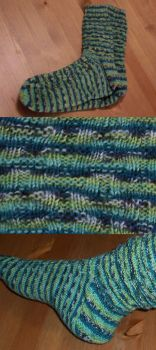 Men's Socks - Basketweave Pattern by Enira