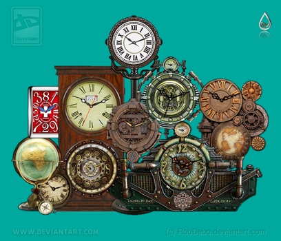 Steampunk clocks and others by RobDebo