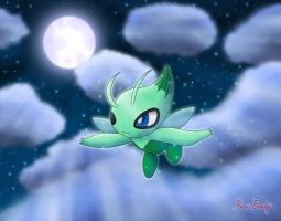 Night Strolling Celebi by Rose-Beuty
