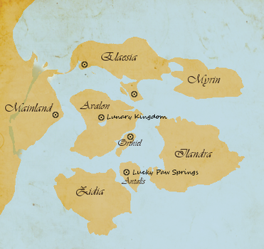 Lunary isles - place map by Lunatuh