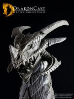 Terror Dragon bust final sculpt 5 by drakoncast