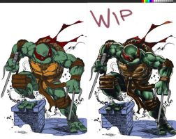Trying out digital colors..WIP by emilcabaltierra