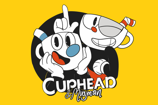 Cuphead and Mugman by HuckleFred
