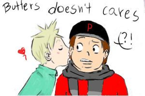 butters doesnt cares by yosh-tush-us