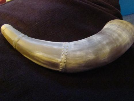 WIP Powder Horn Commission by Glaisne
