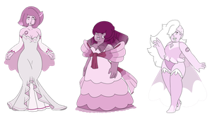 SU Rose Quartz Adopts (closed) by SmilesUpsideDown