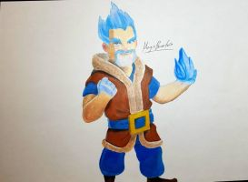 Ice Wizard of Clash Royale  by MagicBocetos