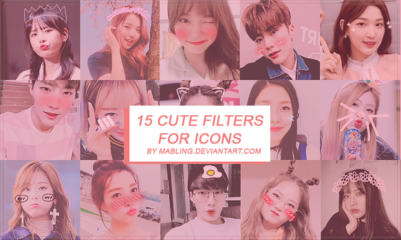 15 Cute Filters Pack By Mabling by mabling