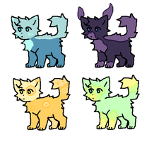 5 point cat adopts! | open 4/4 by FlooflyPoogle