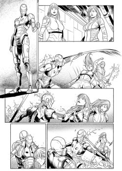 Lineart  Red Agent Pg18 by EmanuelBraga