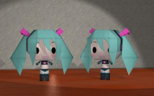 Paper Craft Miku by Primantis
