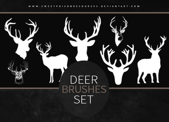 Deer Brushes | Photoshop by sweetpoisonresources