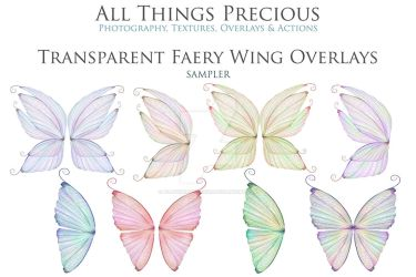 Transparent Fairy Wing Overlays set 12 by AllThingsPrecious