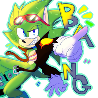 Scourge The Hedgehog! (Coloring) by husii