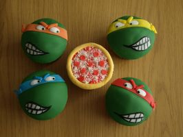 TMNT Cupcakes by sparks1992