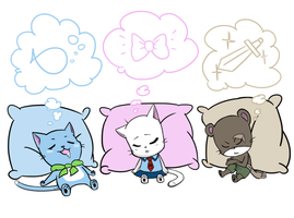 What Are You Cute Cats Dreaming About? by jujulupe