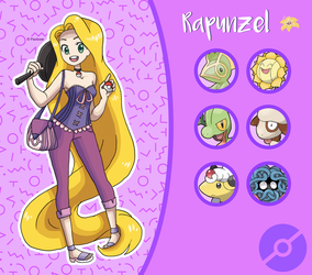 Disney Pokemon trainer : Rapunzel by Pavlover