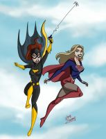 BATGIRL and CW SUPERGIRL  by elyasmusavi