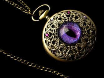 Violet Black Regal Pocket Watch by LadyPirotessa