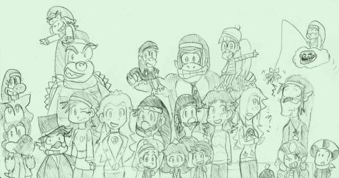 A Sketchy Mario Christmas and New Year by mrm64