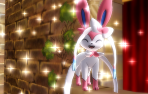 Pokemon MMD Sylveon sparkle time by Hack-Girl