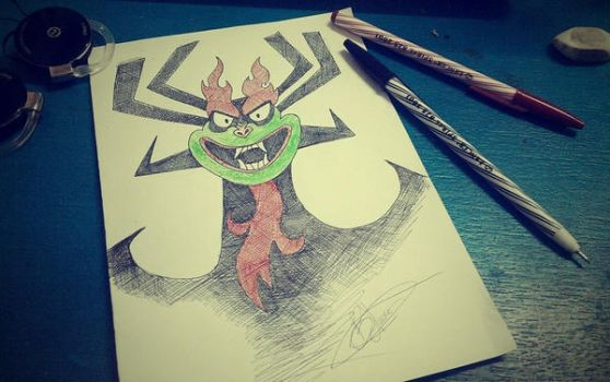 Aku! The Deliverer of Darkness! by tux20