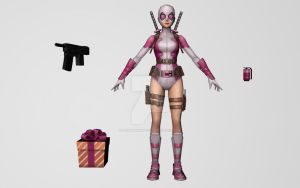 Gwenpool (MarvelFF 3D Model) by Pitermaksimoff